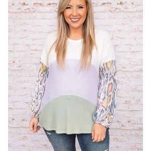 Floral Fave Top, Ivory